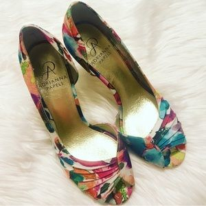 NEW Adrianna Papell Floral High Heels